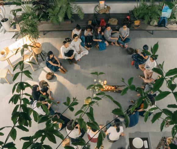 Kunstausstellung der Peaceful Bamboo Family (Tinh Truc Gia) in Saigon