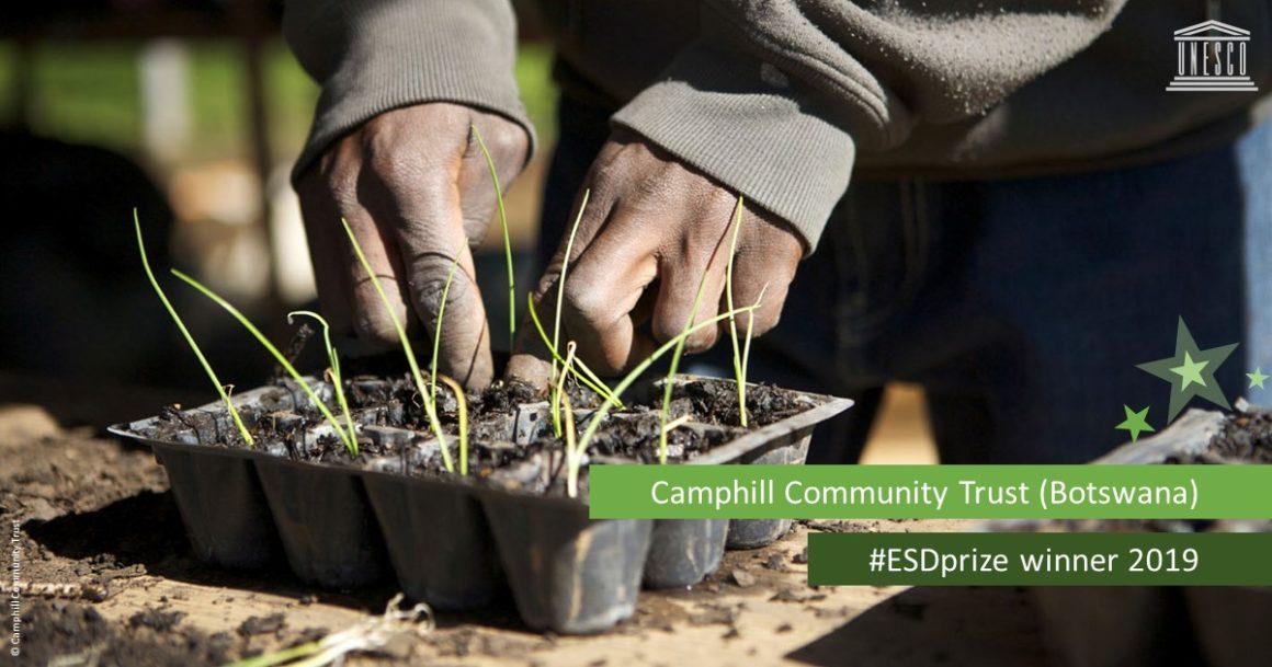 Camphill Community Trust Botswana otorgó el premio UNESCO-Japón 2019 de Educación para el Desarrollo Sustentable
