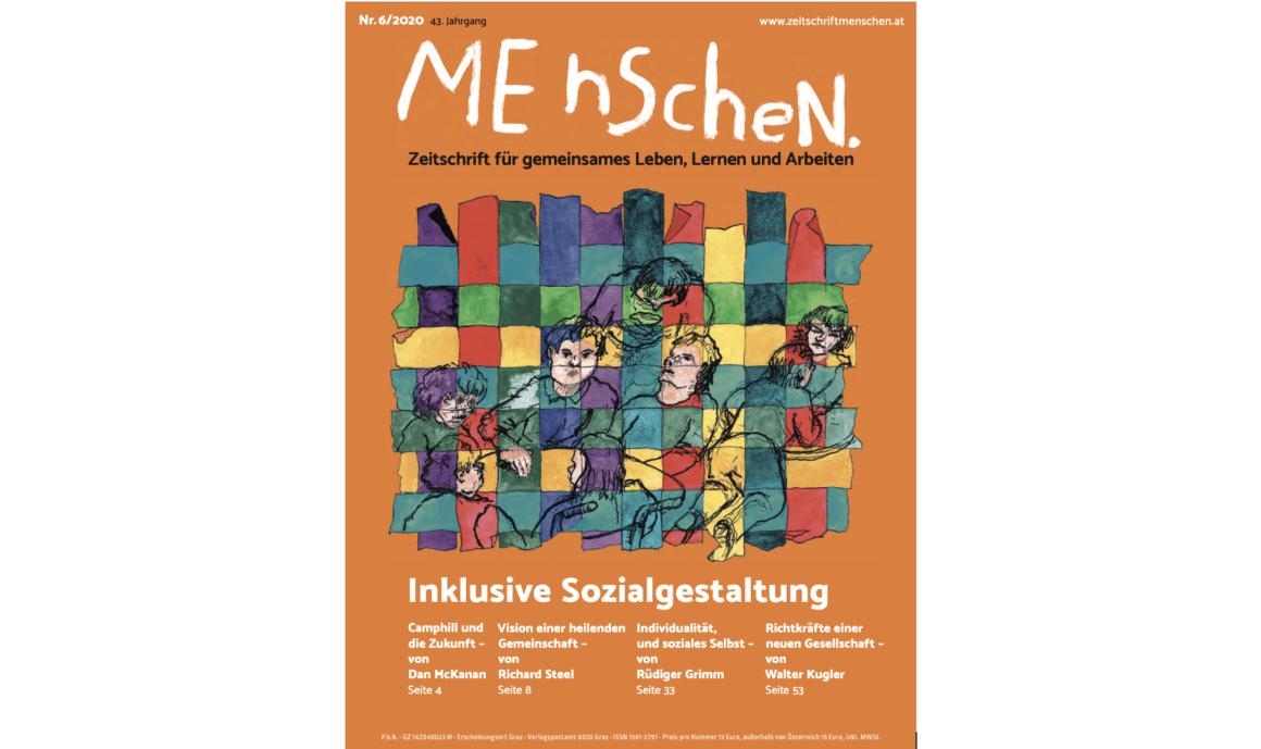 Zeitschrift Menschen. Schwerpunktheft Inklusive Sozialgestaltung & anthroposophische Heilpädagogik